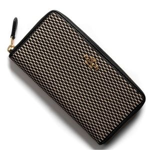 Coach Accordion Legacy Jacquard Zip Wallet